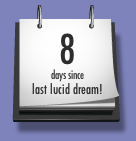 a screen snapshot of my lucid dreaming count days since last lucid dream widget
