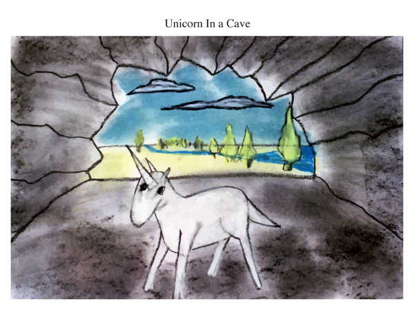 Unicorn In a Cave