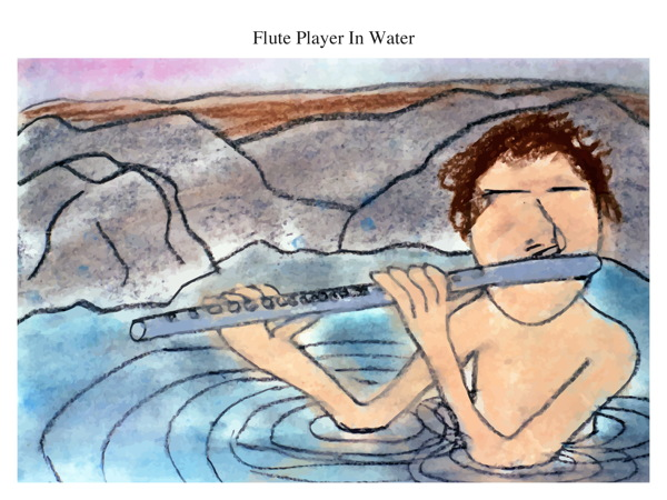 Flute Player In Water