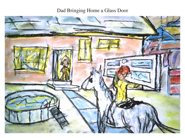 Dad Bringing Home a Glass Door