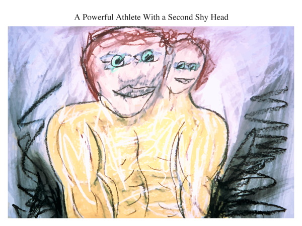 A Powerful Athlete With a Second Shy Head