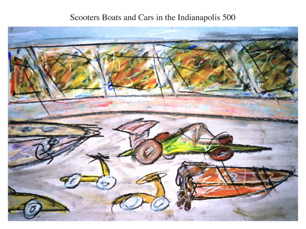 Scooters Boats and Cars in the Indianapolis 500