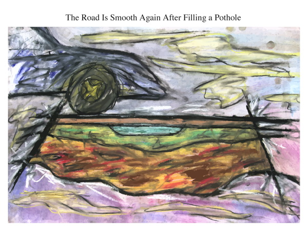 The Road Is Smooth Again After Filling a Pothole