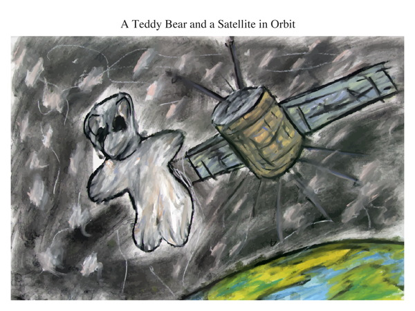 A Teddy Bear and a Satellite in Orbit