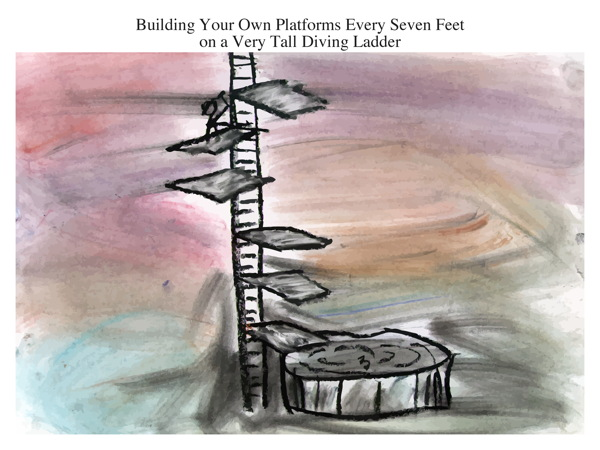 Building Your Own Platforms Every Seven Feet on a Very Tall Diving Ladder
