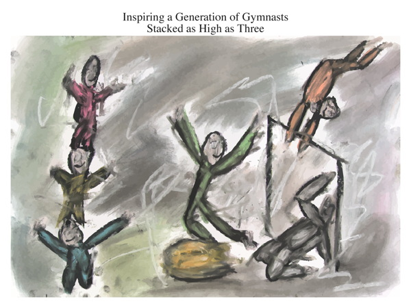 Inspiring a Generation of Gymnasts Stacked as High as Three