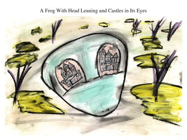 A Frog With Head Leaning and Castles in Its Eyes