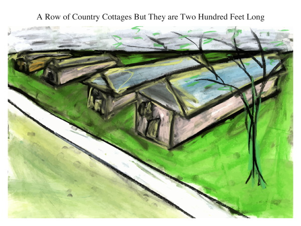 A Row of Country Cottages But They are Two Hundred Feet Long