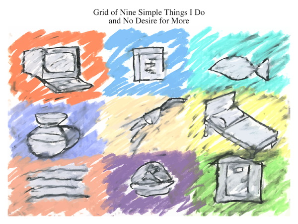Grid of Nine Simple Things I Do and No Desire for More