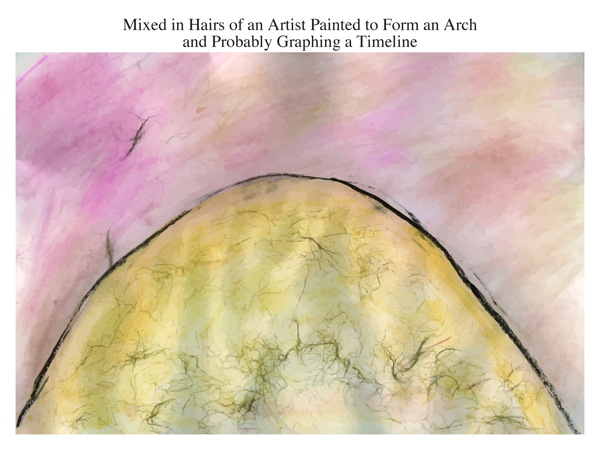 Mixed in Hairs of an Artist Painted to Form an Arch and Probably Graphing a Timeline