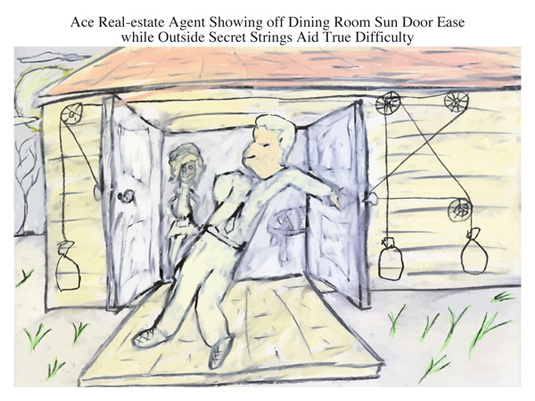 Ace Real-estate Agent Showing off Dining Room Sun Door Ease while Outside Secret Strings Aid True Difficulty