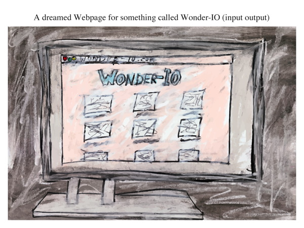 A dreamed Webpage for something called Wonder-IO (input output)
