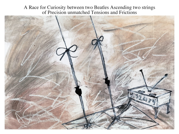 A Race for Curiosity between two Beatles Ascending two strings of Precision unmatched Tensions and Frictions