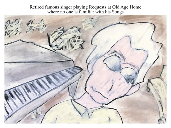 Retired famous singer playing Requests at Old Age Home where no one is familiar with his Songs