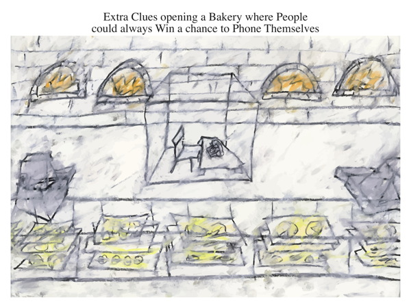 Extra Clues opening a Bakery where People could always Win a chance to Phone Themselves