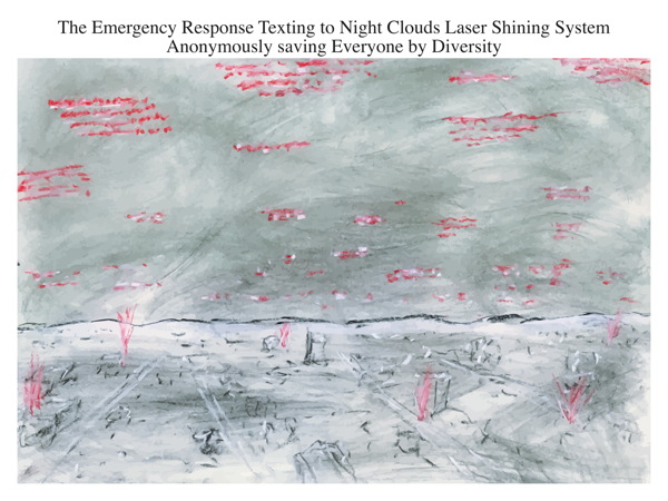 The Emergency Response Texting to Night Clouds Laser Shining System Anonymously Saving Everyone by Diversity