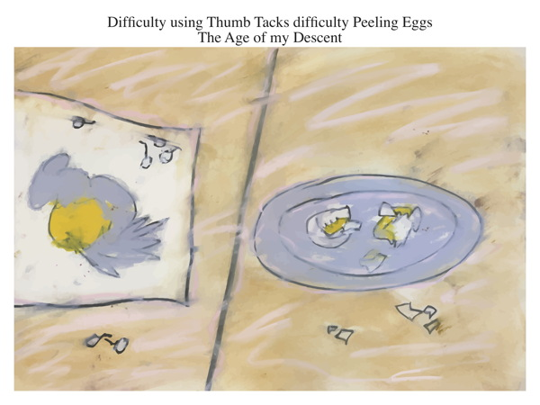 Difficulty using Thumb Tacks difficulty Peeling Eggs The Age of my Descent