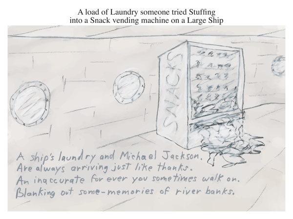 A load of Laundry someone tried Stuffing into a Snack vending machine on a Large Ship