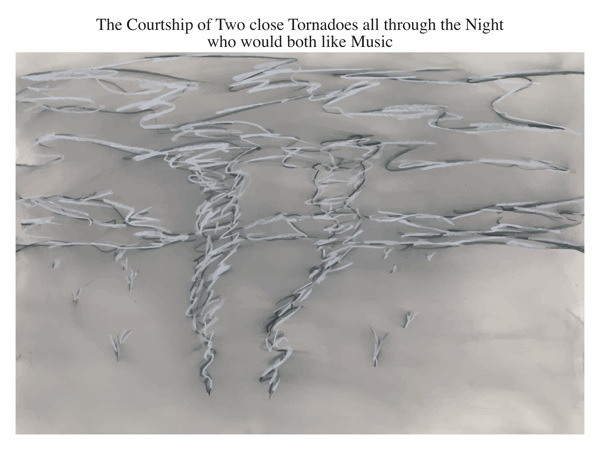 The Courtship of Two close Tornadoes all through the Night who would both like Music