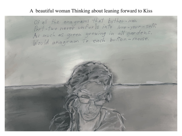 A  beautiful woman Thinking about leaning forward to Kiss