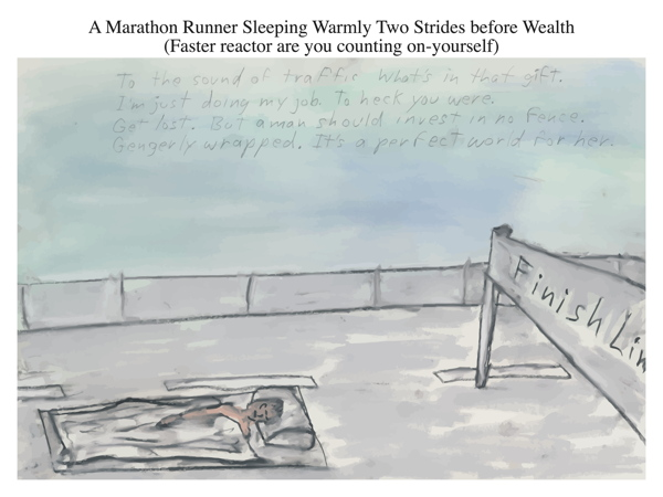 A Marathon Runner Sleeping Warmly Two Strides before Wealth (Faster reactor are you counting on-yourself)