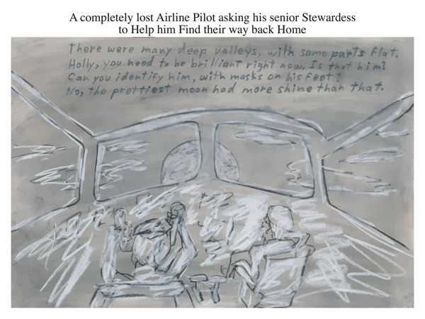 A completely lost Airline Pilot asking his senior Stewardess to Help him Find their way back Home