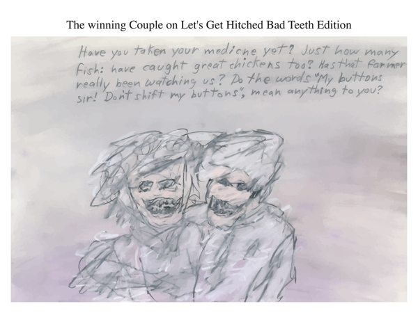 The winning Couple on Let's Get Hitched Bad Teeth Edition